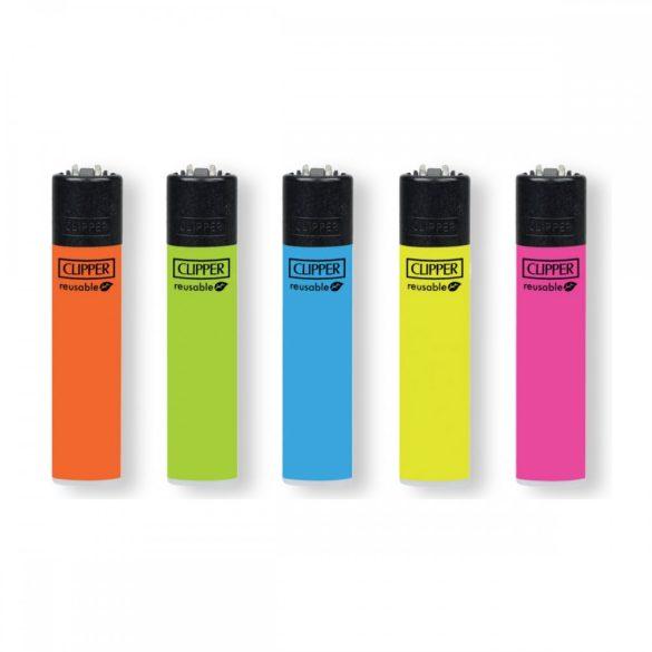 Öngyújtó Clipper tűzköves színes neon