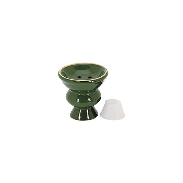 Vízipipa kerámia zöld nagy