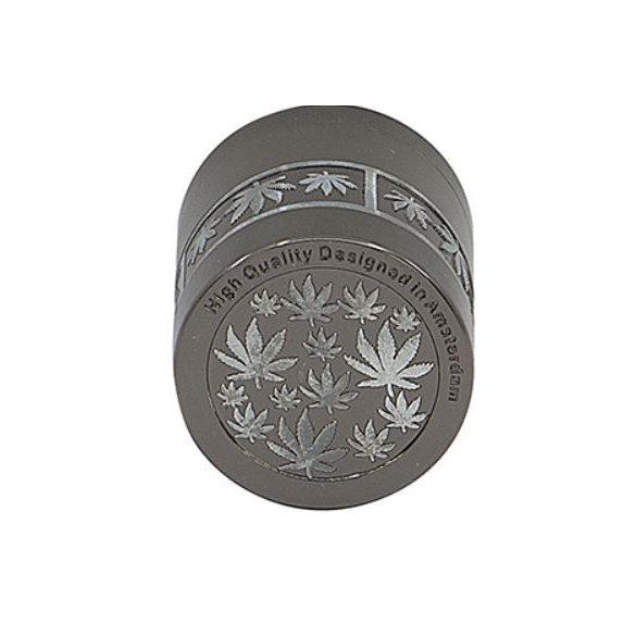 Dohányőrlő fém 4 részes 4 cm