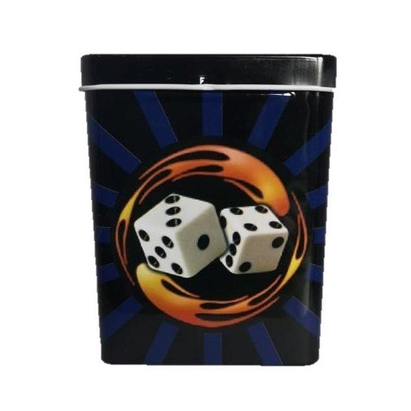 Cigarettatartó fém póker II.