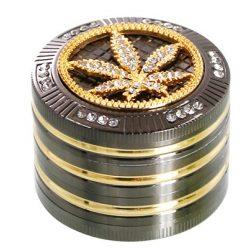 Dohányőrlő 4 részes fém cannabis