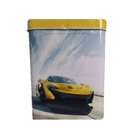 Cigarettatartó fém sárga autó