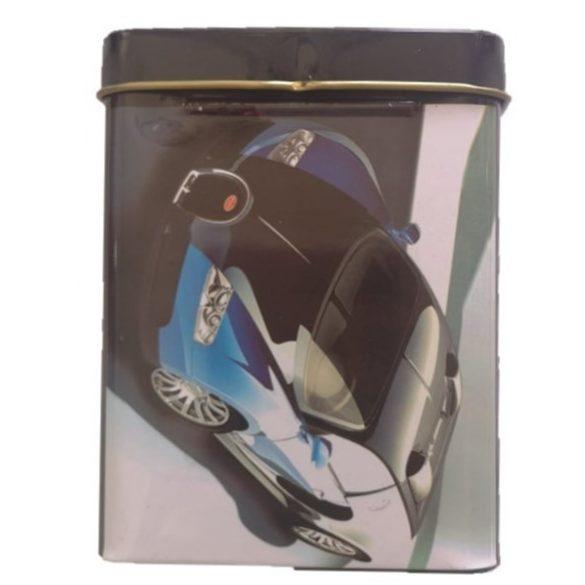 Cigarettartó fém kék sportautó
