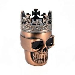 Dohányörlő fém koponya