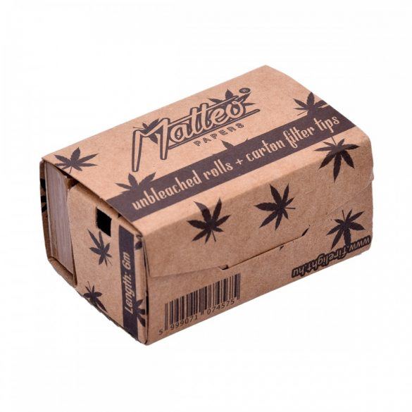 Cigarettapapír Matteo Rolls+tip 6 méteres organic