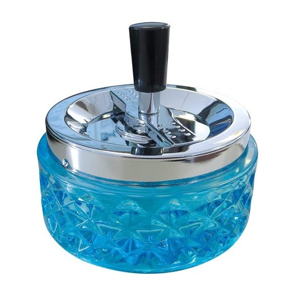 Hamutál pörgős üveg 11 cm kék